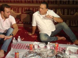 """Galvão Bueno entrevistou Roger no Qatar para o """"Na Estrada"""""""